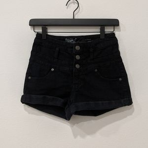 High rise button fly shorts Sz 2 / 26